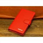 Кожаный чехол горизонтальная книжка (нат. кожа) с крепежной застежкой для Nokia Lumia 1320