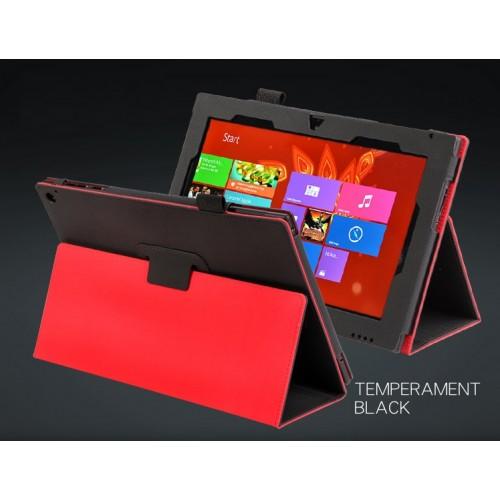 Чехол кожаный текстурный смарт подставка Full Cover серия Microfiber Power для Nokia Lumia 2520