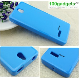 Силиконовый чехол для Nokia 515 Голубой