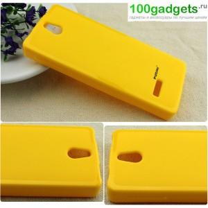 Силиконовый чехол для Nokia 515 Желтый