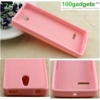 Силиконовый чехол для Nokia 515 Розовый