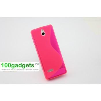 Силиконовый чехол S для Nokia 515 Розовый
