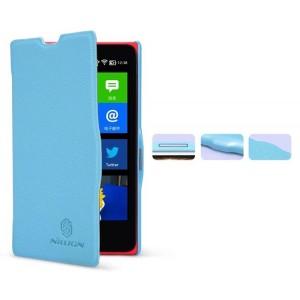 Чехол флип серия Colors для Nokia X Голубой