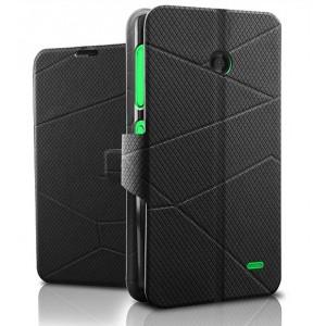 Чехол флип подставка текстурный для Nokia X Черный