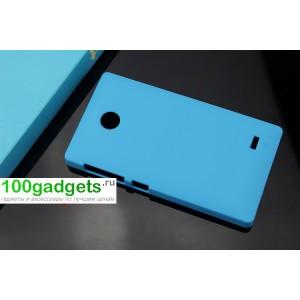 Пластиковый чехол для Nokia X Голубой