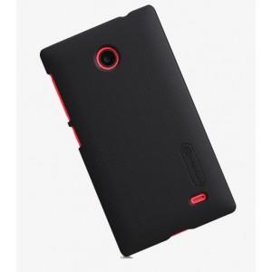 Пластиковый матовый премиум чехол для Nokia X Черный