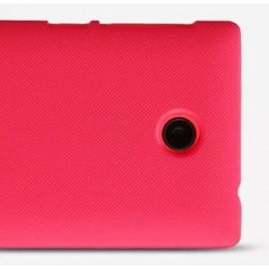 Пластиковый матовый премиум чехол для Nokia X Красный
