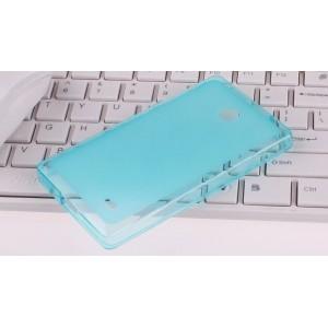 Силиконовый чехол для Nokia X Голубой