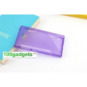Силиконовый чехол S для Nokia X Фиолетовый