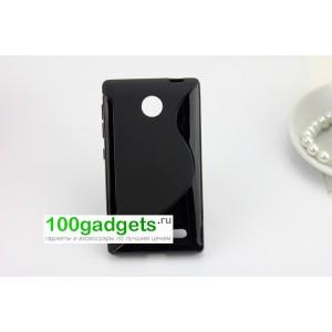 Силиконовый чехол S для Nokia X Черный