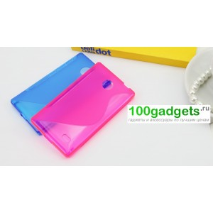 Силиконовый чехол S для Nokia X Розовый