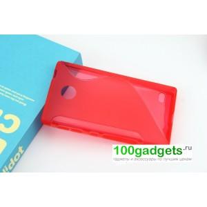 Силиконовый чехол S для Nokia X Красный