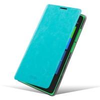 Чехол флип подставка водоотталкивающий для Nokia XL Голубой