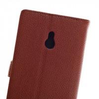 Чехол портмоне подставка для Nokia XL Коричневый