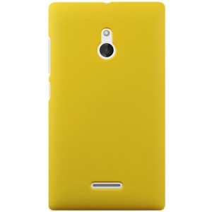 Пластиковый чехол для Nokia XL Желтый