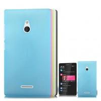 Пластиковый полупрозрачный матовый чехол для Nokia XL