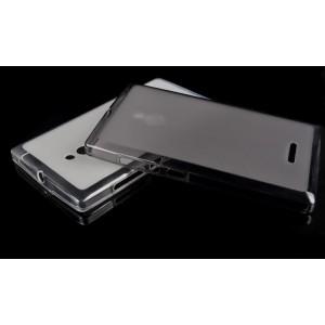 Силиконовый матовый полупрозрачный чехол для Nokia XL Черный