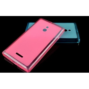 Силиконовый матовый полупрозрачный чехол для Nokia XL Розовый
