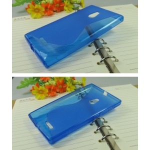 Силиконовый чехол S для Nokia XL Голубой