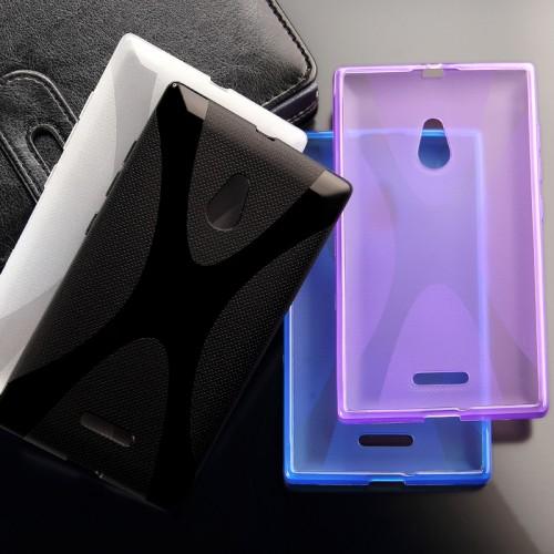 Силиконовый чехол X для Nokia XL Черный