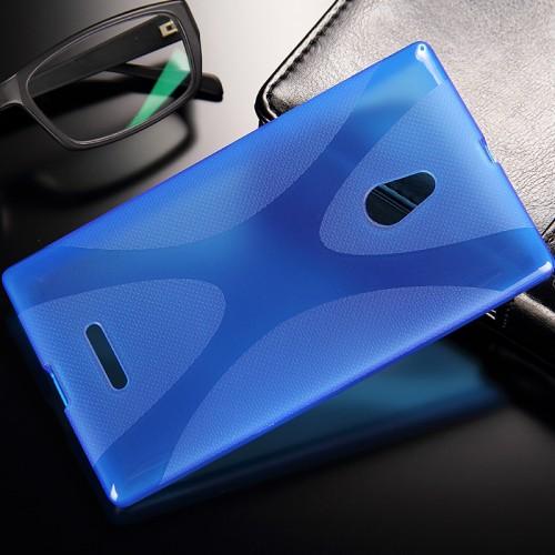 Силиконовый чехол X для Nokia XL Фиолетовый