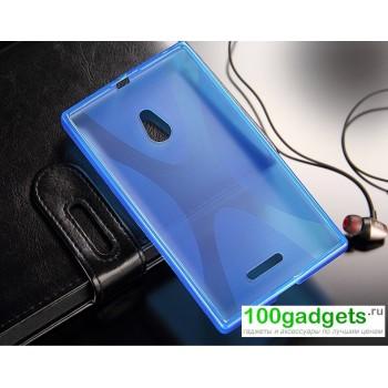 Силиконовый чехол X для Nokia XL Голубой