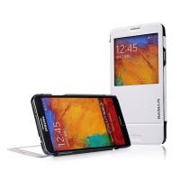 Чехол флип подставка инвертный с окном вызова для Galaxy Note 3 Белый