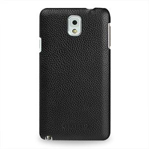 Кожаный чехол накладка Back Cover (нат. кожа) для Galaxy Note 3 Черный