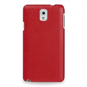 Кожаный чехол накладка Back Cover (нат. кожа) для Galaxy Note 3 Красный