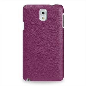 Кожаный чехол накладка Back Cover (нат. кожа) для Galaxy Note 3 Фиолетовый