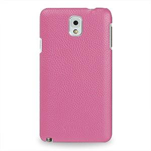 Кожаный чехол накладка Back Cover (нат. кожа) для Galaxy Note 3 Розовый