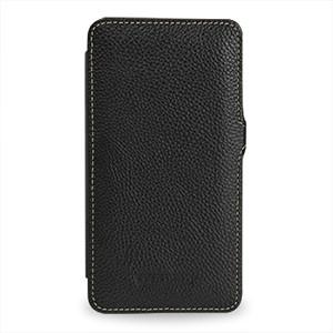 Кожаный чехол книжка горизонтальная (нат. кожа) для Galaxy Note 3 Черный