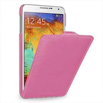 Кожаный чехол вертикальная книжка (нат. кожа) для Samsung Galaxy Note 3