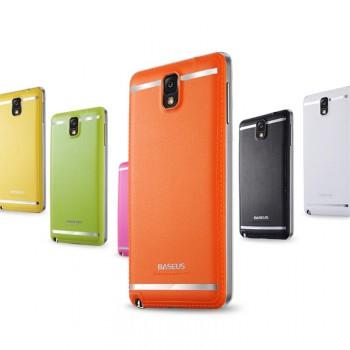 Чехол пластик/кожа накладка для Galaxy Note 3
