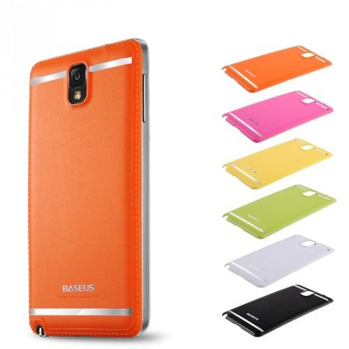 Чехол пластик/кожа накладка для Galaxy Note 3 Зеленый