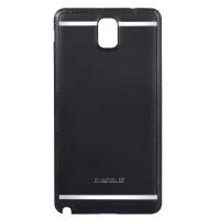 Чехол пластик/кожа накладка для Galaxy Note 3 Черный
