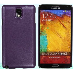 Пластиковый чехол с кожаным покрытием серия Leather Pretender для Samsung Galaxy Note 3 Фиолетовый