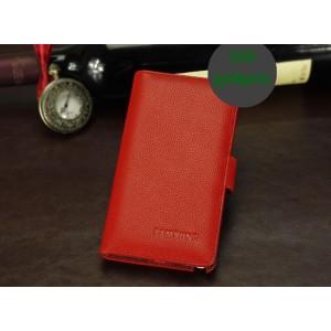 Кожаный чехол портмоне (нат. кожа) для Galaxy Note 3 Красный
