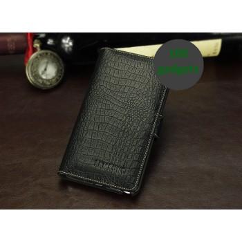 Кожаный чехол портмоне (нат. кожа крокодила) для Galaxy Note 3