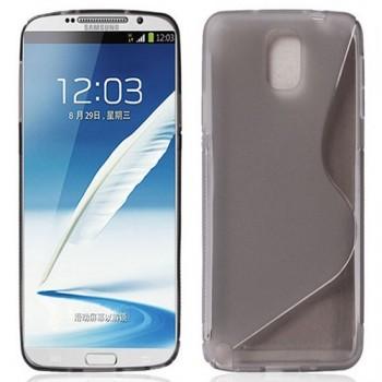 Силиконовый S чехол для Samsung Galaxy Note 3 Серый