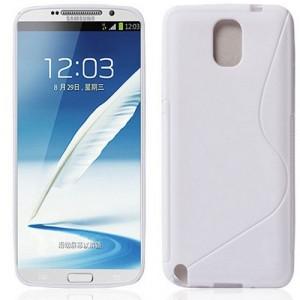 Силиконовый S чехол для Samsung Galaxy Note 3 Белый