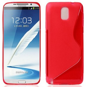 Силиконовый S чехол для Samsung Galaxy Note 3 Красный
