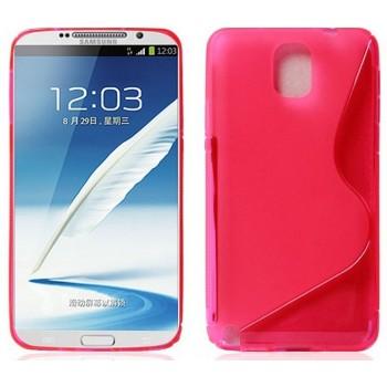 Силиконовый S чехол для Samsung Galaxy Note 3 Розовый