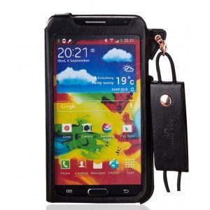 Кожаный чехол бампер подвеска для Samsung Galaxy Note 3 Черный