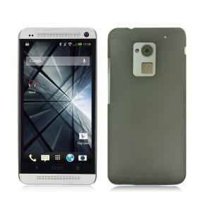 Пластиковый полупрозрачный чехол для HTC One Max Черный