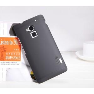 Пластиковый матовый премиум чехол для HTC One Max Черный