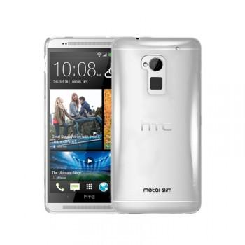 Пластиковый транспарентный чехол для HTC One Max