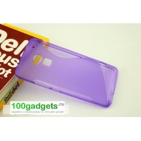 Силиконовый чехол S для HTC One Max Фиолетовый
