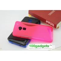 Силиконовый чехол S для HTC One Max Розовый