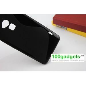 Силиконовый чехол S для HTC One Max Черный